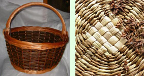 basket and rush weaving by Beryl Smith